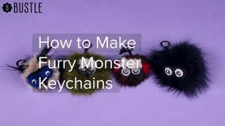 How To Make Furry Monster Keychains