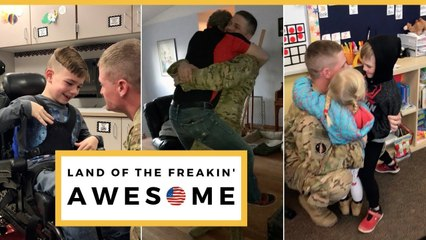 USAF Sergeant Surprises Family After Returning Early From Deployment