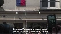 Au Quartier latin, une plaque à la mémoire de Charles Aznavour