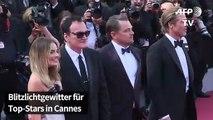 Tarantino, DiCaprio und Pitt auf dem roten Teppich in Cannes