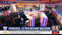 Sondage: Marine Le Pen devant Emmanuel Macron