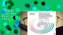 [Read] Practical Program Evaluation: Theory-Driven Evaluation and the Integrated Evaluation