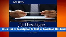 Online The Effective Deposition: Techniques and Strategies That Work (NITA)  For Free