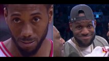 Kawhi Leonard does the Lebron James Troll face on the Bucks during Raptors Game 4 win in ECF 5-21-19