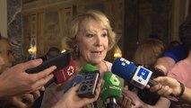Aguirre dice que no le choca que PSOE pida su imputación por caso Lezo
