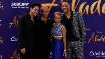 "Will Smith, Jaden Smith, Jada Pinkett Smith, Trey Smith ""Aladdin"" World Premiere Purple Carpet"