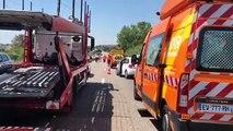 Un mort dans un accident sur la RN 568 entre Martigues et Port de Bouc.  Images F Munoz