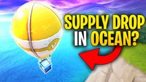 What Happens When A SUPPLY DROP LANDS In The OCEAN? | Is It Possible? | Fortnite Mythbusters