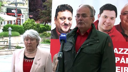 Thürmer Gyula az Irány Tv stúdiójában