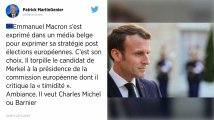 Emmanuel Macron confirme Michel Barnier comme prétendant à la présidence de la Commission