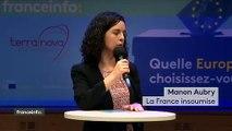 """Elections européennes : """"L'objectif de la France insoumise, c'est de dépasser Les Républicains"""", définit Manon Aubry"""