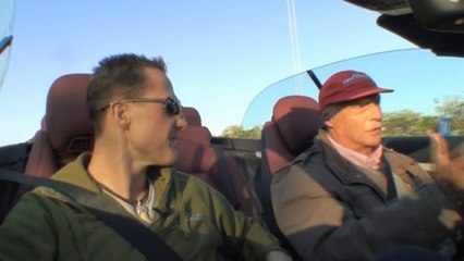 Niki Lauda interviewt Michael Schumacher