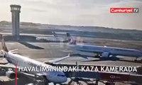 THY 'Uçak direği temas etmişti' demişti.. İşte Yeni İstanbul Havalimanı'ndaki kazanın görüntüleri