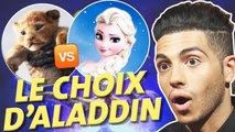 Aladdin : Mena Massoud team Reine des Neiges ou Roi Lion ?
