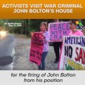 Activists Visit War Criminal John Bolton's House