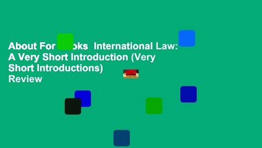 International Law A Very Short Introduction
