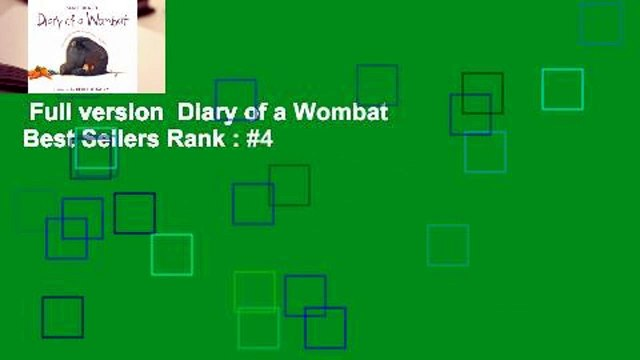 Full version  Diary of a Wombat  Best Sellers Rank : #4