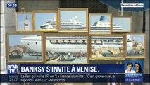 Banksy s'invite à la Biennale de Venise et y présente une oeuvre dans la rue