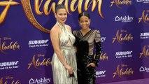 "Nadine Velazquez, Christina Milian ""Aladdin"" World Premiere Purple Carpet"