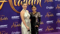 "Nadine Velazquez, Christina Milian ""Aladdin"" World Premiere Purple Carpet"