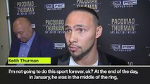 (Subtitled) Thurman wants to send Pacquiao into retirement
