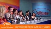MATTHIAS ET MAXIME - Conférence de presse - Cannes 2019 - VF