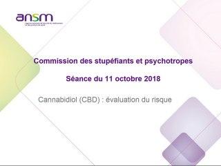 Commission de stupefiants et psychotropes - Cannabidiol(CBD) : évaluation du risque - Séance du 11/10/2018