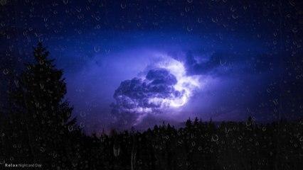 Thunderstorm & Rain   24 HOURS - 4K,  White Noise, Insomnia, Meditation, Study, Relaxing Thunder for Sleep
