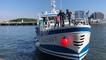 Le chalutier neuf Côte d'Ambre accueilli à Keroman