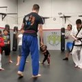 Toddler Takes Karate Class with Older Kids