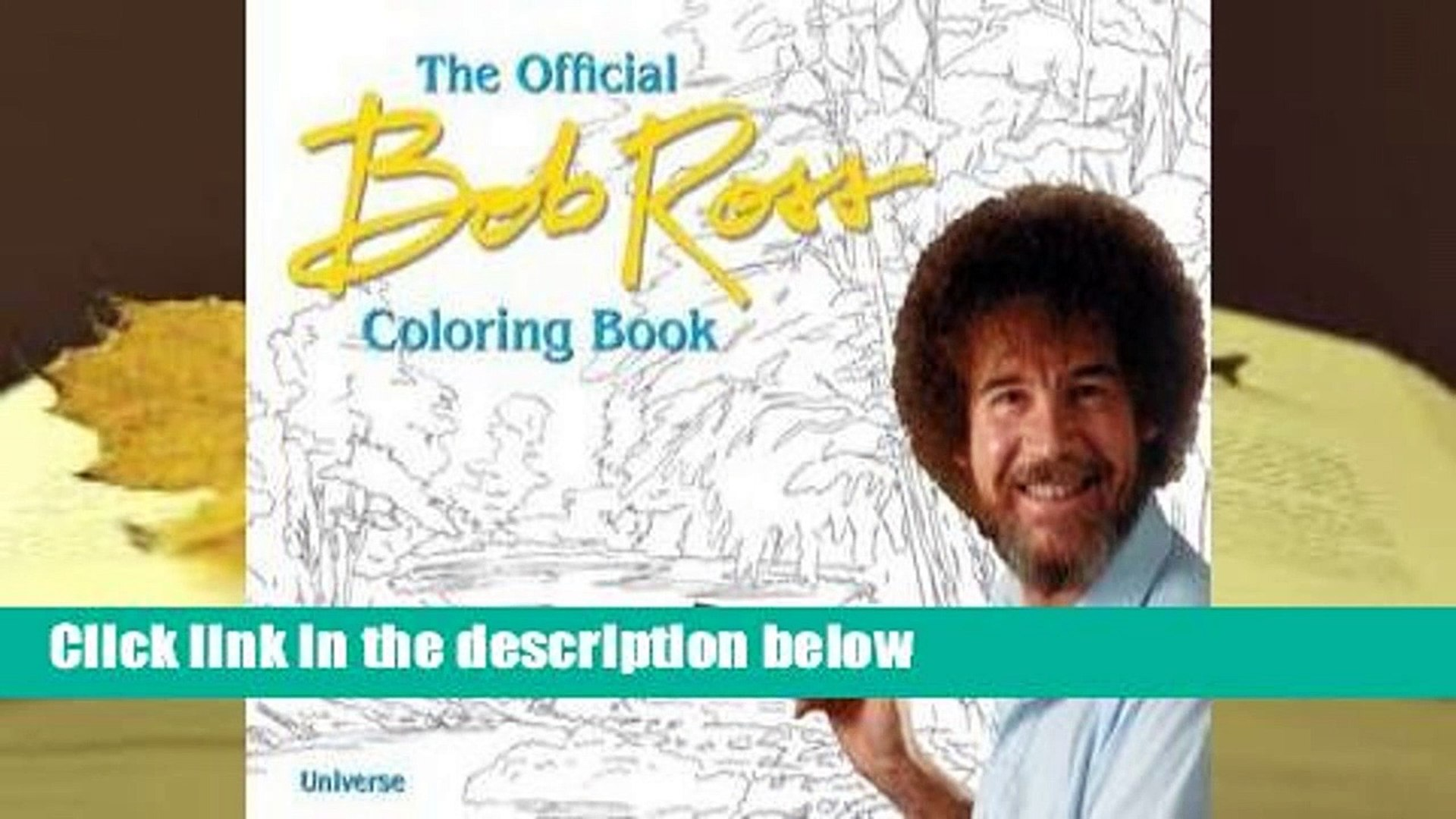 About For Books The Bob Ross Coloring Book By Bob Ross