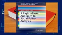 A Rights-Based Approach to Social Policy Analysis  Best Sellers Rank : #5