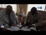 RTG/Signature de convention entre le Ministre des transports et le DG du centre régional de la formation à la sureté de l'aviation
