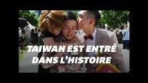 Taïwan célèbre des dizaines de mariages homosexuels, les premiers en Asie