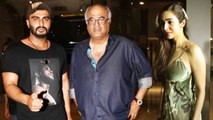Arjun Kapoor With Father Boney Kapoor And GF Malaika Arora At India's Most Wanted Special Screening