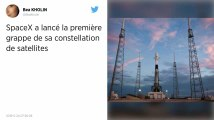 SpaceX lance la première grappe de sa constellation de satellites