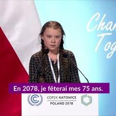 greta thunberg lors de son intervention la cop 24 en pologne en d cembre 2018