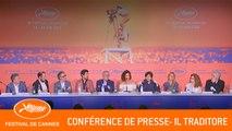 IL TRADITORE - Conference de presse - Cannes 2019 - VF