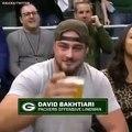 NBA - NFL - Aaron Rodgers And David Bakhtiari Drink Off On Jumbotron