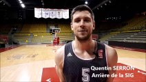 Basket-ball : Quentin Serron (SIG) s'exprime avant les play-offs