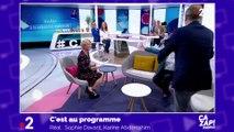 Benoît Poelvoorde interrompt Sophie Davant et fait irruption sur le plateau de C'est au programme