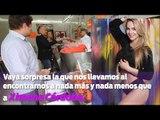 Ximena Córdoba echándose unos tacos de canasta