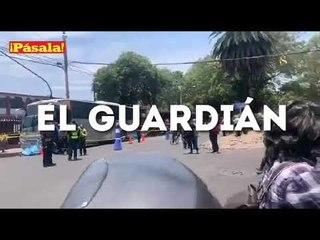 Persona de la tercera edad arrollada en Azcapotzalco