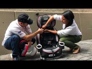 Uso adecuado de sillas de bebé en los autos.