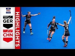 Germany v China | Week 14 | Women's FIH Pro League Highlights