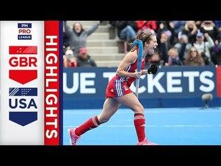 Great Britain v USA | Week 14 | Women's FIH Pro League Highlights