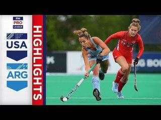 USA v Argentina | Week 16 | Women's FIH Pro League Highlights
