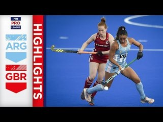 Argentina v Great Britain | Week 12 | Women's FIH Pro League Highlights