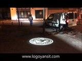 Forklift geçerken iş kazasını önlemek için logo yansıt cihazı ile önlem al,Logo yansıtan fabrika güvenlik ışığı,forklift beyaz ışık mavi ışık