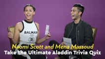 Watch Naomi Scott and Mena Massoud Quiz Each Other With Aladdin Trivia